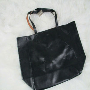 Chicos Reversible Tote Magnetic Closing Black NWT